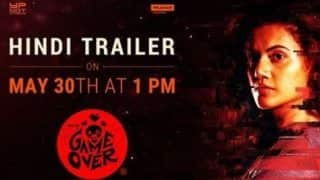 Taapsee Pannu to Release Trailer of Game Over on May 30
