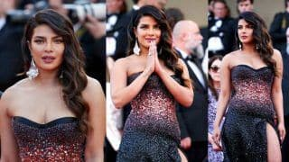 Priyanka Chopra Chooses a Less Dramatic Roberto Cavalli Gown For Her Debut Appearance at Cannes 2019 Red Carpet