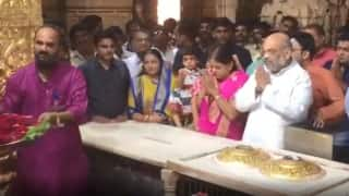 Ahead of LS Polls Results, Amit Shah Offers Prayers at Somnath Temple