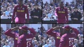 Aus vs WI: Sheldon Cottrell's 'Salute' Celebration During ICC World Cup 2019 And Strange Reason Behind it | WATCH VIDEO