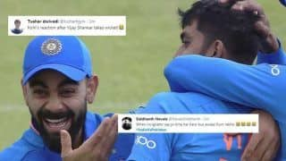 Virat Kohli's Priceless Reaction After Vijay Shankar Removes Imam ul Haq During IND vs PAK ICC Cricket World Cup 2019 Match at Old Trafford is Winning The Internet | SEE POSTS