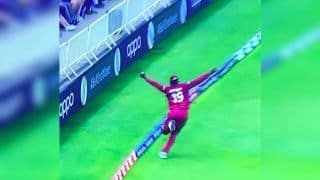 Sheldon Cottrell Takes a Brilliant Catch to Dismiss Steve Smith During Windies ICC World Cup 2019 Tie Against Australia | WATCH VIDEO