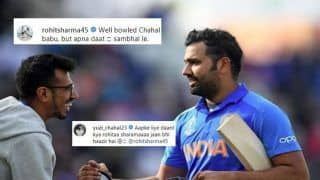 Rohit Sharma-Yuzvendra Chahal Engage in Playful Banter Ahead of Team India's ICC World Cup 2019 Clash Against Unbeaten Australia | SEE POST