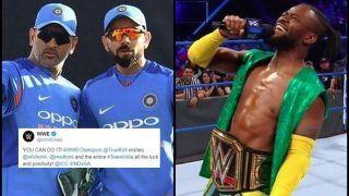 WWE Champion Kofi Kingston Wishes Virat Kohli, MS Dhoni For ICC World Cup 2019 | WATCH VIDEO