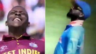 Virat Kohli Mocks Sheldon Cottrell's 'Salute' Celebration During India vs West Indies ICC Cricket World Cup 2019 at Old Trafford | WATCH VIDEO