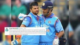 Suresh Raina Bats For MS Dhoni After ICC Asks BCCI to Request Fmr Skipper Not to Sport Army Insignia Balidaan Badge During ICC Cricket World Cup 2019 | SEE POST