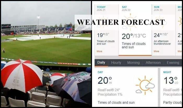 India vs Afghanistan Weather Report: Southampton weather Forecast