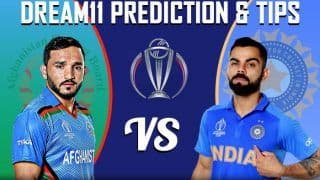 Dream11 Team India vs Afghanistan ICC Cricket World Cup 2019 - Cricket Prediction Tips For Today's World Cup Match IND vs AFG at Rose Bowl Stadium, Southampton