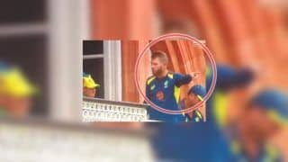 Did David Warner Have a Heated Argument With Teammate From Lord's Balcony During England vs Australia ICC Cricket World Cup 2019 | WATCH VIDEO