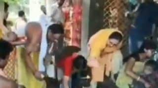 MS Dhoni And Wife Sakshi Dhoni's Mother Pray at Deori Mandir For Virat Kohli-Led Team India's Success at ICC Cricket World Cup 2019 | WATCH VIDEO