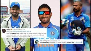 Ambati Rayudu Unnecessarily TROLLED After Rishabh Pant Replaces Injured Shikhar Dhawan For ICC Cricket World Cup 2019 | SEE POSTS