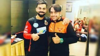 Rashid Khan Reveals How Asghar Afghan Stole Special Bat Gifted by Virat Kohli Ahead of Afghanistan's ICC Cricket World Cup 2019 Opener Against Australia | WATCH VIDEO
