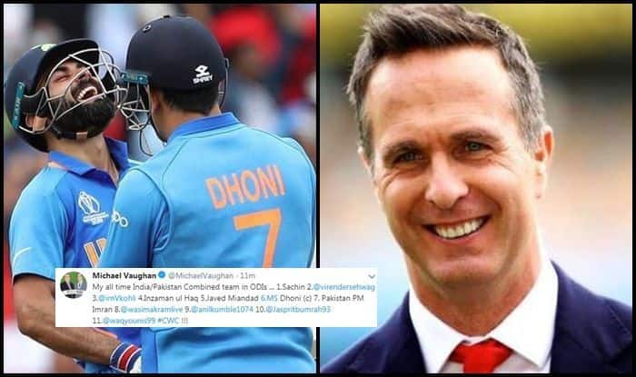 Michael Vaughan Picks Ms Dhoni As Captain In His All Time