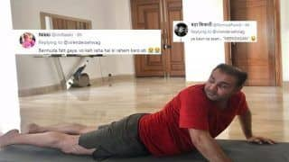 Virender Sehwag Hilariously TROLLED For Posture, Attire on International Yoga Day 2019 | SEE POSTS