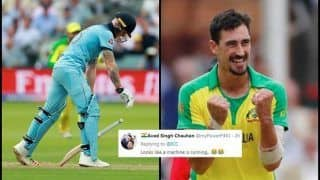 Mitchell Starc Clean Bowls Ben Stokes With a Lethal Yorker During England vs Australia ICC Cricket World Cup 2019, Twitter Hails Delivery | WATCH VIDEO SEE POSTS