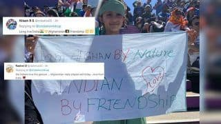 Afghan Girl Fan Wins Hearts With India-Afghanistan Friendship Poster During ICC Cricket World Cup 2019 Clash at Southampton | SEE PIC