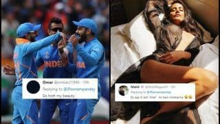 Poonam Pandey's Hot Picture After India Beat Australia in ICC World Cup 2019 is Going Viral on The Internet | SEE POSTS