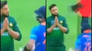 Imad Wasim's Gesture Towards Virat Kohli During India vs Pakistan ICC Cricket World Cup Game at Old Trafford Went Unnoticed | WATCH VIDEO