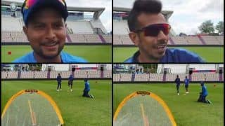 Yuzvendra Chahal, Kuldeep Yadav Have a Unique Fielding Session Ahead of Team India's ICC World Cup 2019 Game Against New Zealand | WATCH VIDEO