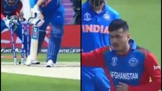 Mujeeb ur Rahman Clean Bowls Rohit Sharma With A Carrom Ball During India vs Afghanistan ICC Cricket World Cup 2019 | WATCH VIDEO