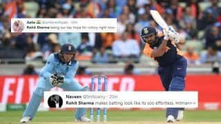 Rohit Sharma Slams 25th ODI Century During India vs England ICC Cricket World Cup 2019, Twitter Hails Hitman | SEE POSTS