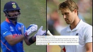 Nick Compton Apologises to Indian Fans For Criticising Virat Kohli's Gesture Towards Kennington Oval Crowd For Booing Steve Smith During ICC Cricket World Cup 2019 | SEE POST