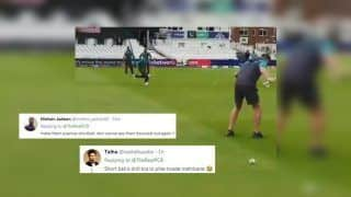 Sarfraz Ahmed-Led Pakistan Cricket Team Engage in Fielding Drill Session Ahead of ICC World Cup 2019 Tie Against England, Twitter Urge Them to Practice Short Balls | WATCH VIDEO AND SEE POSTS