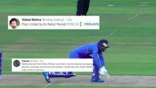 KL Rahul TROLLED For Playing Irresponsible Shot During India vs Afghanistan ICC Cricket World Cup 2019 Match | SEE POSTS