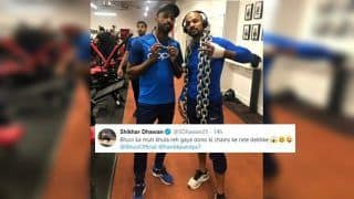 India vs Pakistan: Shikhar Dhawan, Hardik Pandya Get Photo-Bombed by Bhuvneshwar Kumar Ahead of Ind vs Pak ICC Cricket World Cup 2019 Match at Manchester | SEE PIC