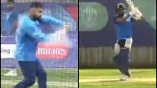 Was Virat Kohli Imitating Hardik Pandya's Pull Shot in Net Session at Rose Bowl Ahead of India vs Afghanistan ICC Cricket World Cup 2019 Match? WATCH VIDEO