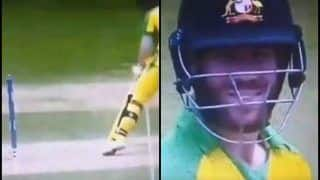 David Warner's Cheeky Smile After Zing Bails Don't Come-Off During India's ICC World Cup 2019 Clash Against Australia is Unmissable | WATCH VIDEO
