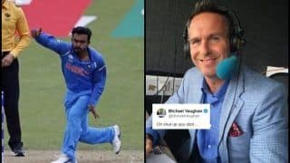 Michael Vaughan Calls Indian Fan 'Idiot' Over Kedar Jadhav's Bowling Comment During ICC World Cup 2019 | SEE POST