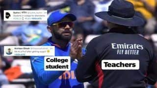 Virat Kohli Argues With Umpire Over Controversial DRS Call During India vs Afghanistan ICC Cricket World Cup 2019 Match, Skipper's Reaction Has Become a Viral Meme