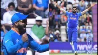 Virat Kohli's Reaction After Jasprit Bumrah Picks Rahmat Shah, Hashmatullah Shahidi in One Over During India vs Afghanistan ICC Cricket World Cup 2019 is Unmissable | WATCH VIDEO