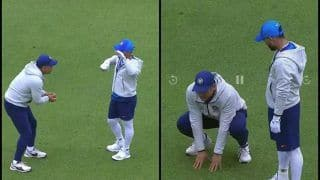 India vs Pakistan: MS Dhoni Giving Wicketkeeping Masterclass to Rishabh Pant in Manchester Ahead of IND vs PAK ICC Cricket World Cup 2019 Match is Unmissable | WATCH VIDEO