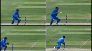 MS Dhoni Stumps Andile Phelukwayo During Team India's ICC World Cup 2019 Opener Against South Africa | WATCH VIDEO