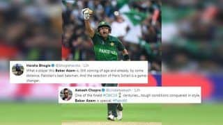 Babar Azam Hailed on Twitter After Match-Winning Century to Help Pakistan Beat New Zealand in ICC Cricket World Cup 2019 Match | SEE POSTS