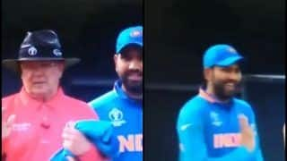 ICC World Cup 2019: Rohit Sharma Mocks Umpire Ian Gould After Steve Smith's DRS Gets Overturned During India's Game Against Australia | WATCH VIDEO
