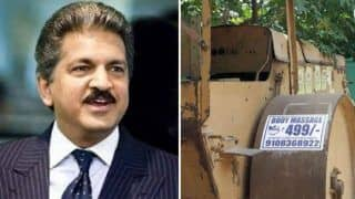 Anand Mahindra Cracks up Internet With Viral Picture of Road Roller Massage For Rs 499