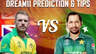 Dream11 Team Australia vs Pakistan ICC Cricket World Cup 2019 – Cricket Prediction Tips For Today's World Cup Match AUS vs PAK at County Ground, Taunton