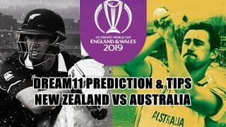 Dream11 Team Prediction New Zealand vs Australia ICC Cricket World Cup 2019 - Cricket Prediction Tips For Today's World Cup Match NZ vs AUS Lord's, London