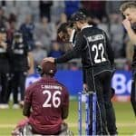 ICC Cricket World Cup 2019 Match 29 Report: Kane Williamson, Trent Boult Star as New Zealand Survive Carlos Brathwaite Scare to Win West Indies Thriller