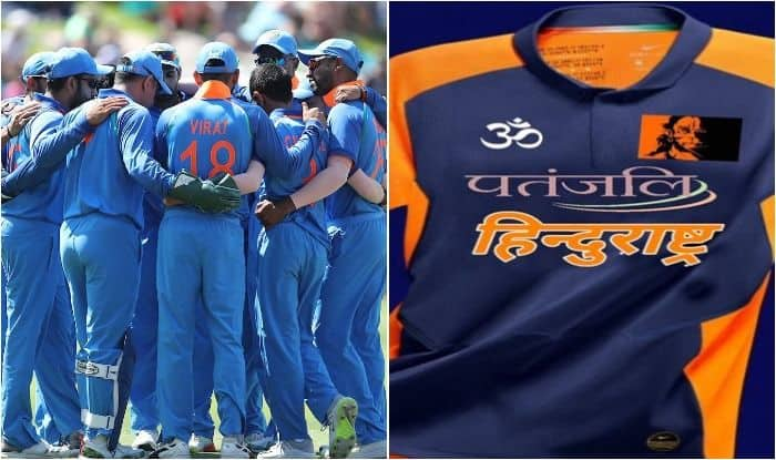 Team India New Jersey Team India Orange Jersey Icc Cricket
