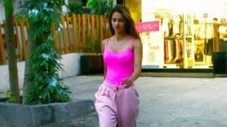 Disha Patani Raises Glam Quotient in Comfy Neon Pink Top And Lowers as She Steps Out of Home