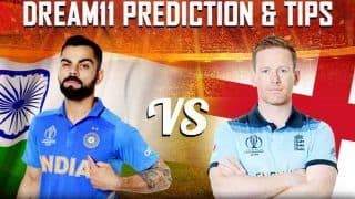 Dream11 Team Prediction England vs India ICC Cricket World Cup 2019 - Cricket Prediction Tips For Today's World Cup Match ENG vs IND at Edgbaston, Birmingham