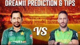Dream11 Team Prediction Pakistan vs South Africa ICC Cricket World Cup 2019 - Cricket Prediction Tips For Today's World Cup Match PAK vs SA at Lord's, London