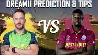 Dream11 Team South Africa vs West Indies ICC Cricket World Cup 2019 - Cricket Prediction Tips For Today's World Cup Match SA vs WI at Kennington Oval, London