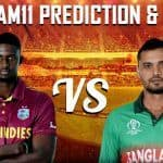Dream11 Team Prediction West Indies vs Bangladesh ICC Cricket World Cup 2019 - Cricket Prediction Tips For Today's World Cup Match WI vs BAN at The Cooper Associates County Ground, Taunton