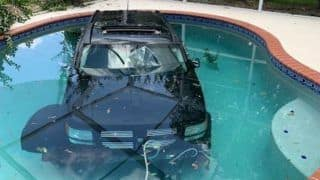 Carpooling Much! Florida Driver Loses Control of His Car, Drives it Into House Pool