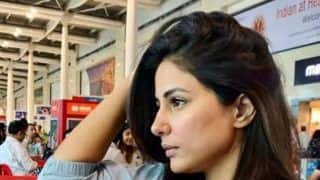 Hina Khan's Comfy Airport Look in All Blue Casual Wear is What Summery Clothing Looks Like
